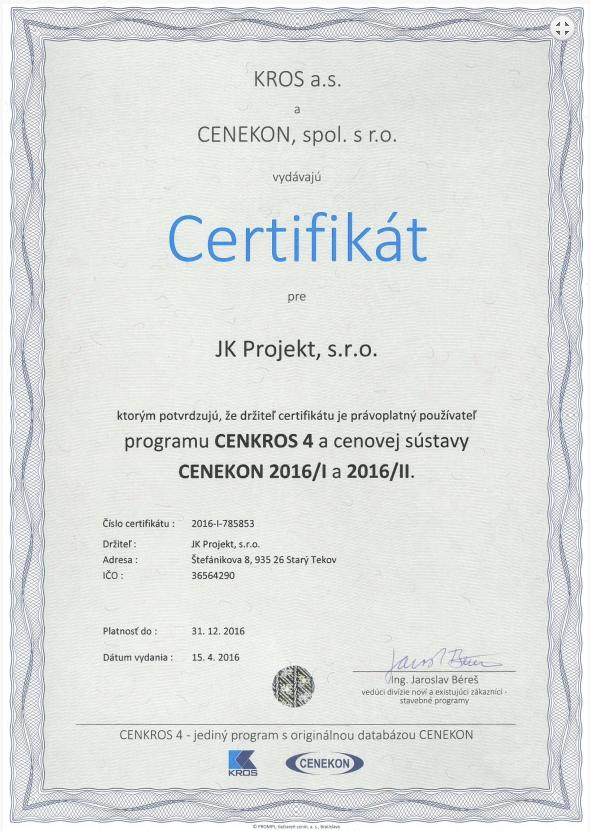 JK projekt, s.r.o.  Levice , 1